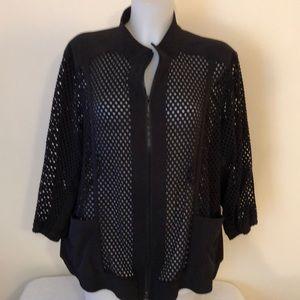 Zenergy by Chico light weight black jacket size 4